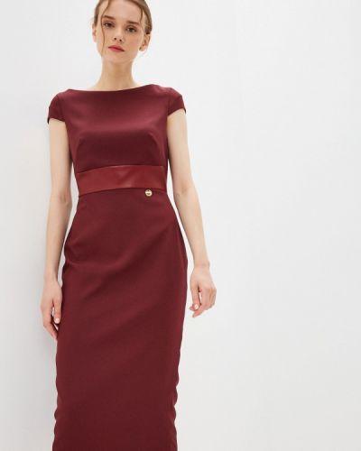 Бордовое платье футляр Rich & Naked