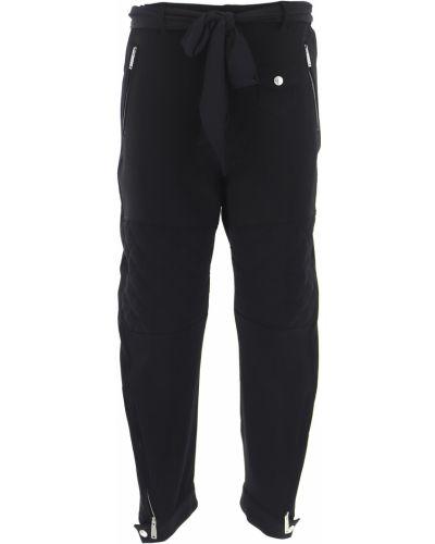 Czarne spodnie zimowe Dsquared