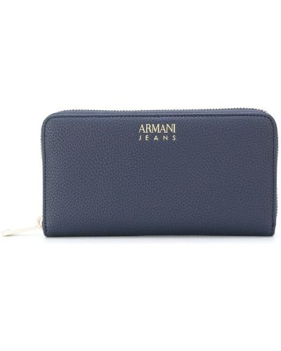 Синий кошелек на молнии Armani Jeans