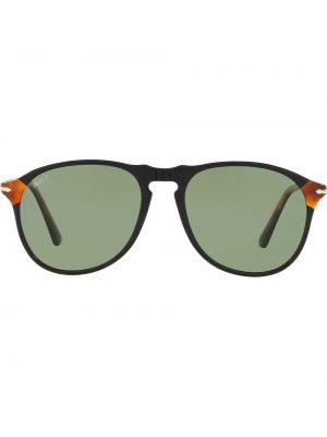 Прямые черные солнцезащитные очки круглые Persol