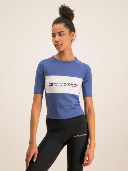 T-shirt - niebieska Tommy Sport