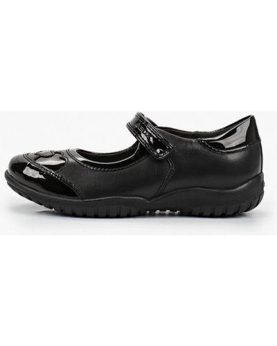 Лаковые кожаные черные туфли Geox