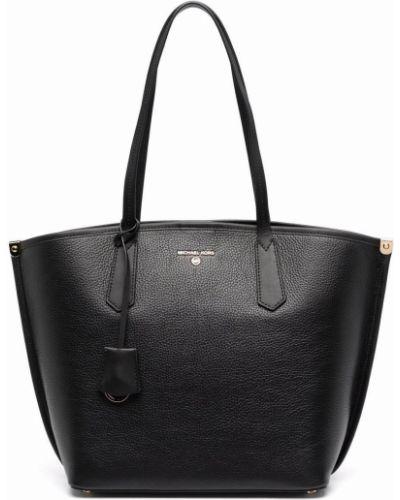 Кожаная сумка - черная Michael Michael Kors