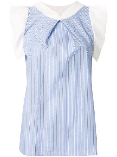 Niebieski top w paski bawełniany Loveless