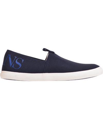 Слипоны синий Armani Jeans