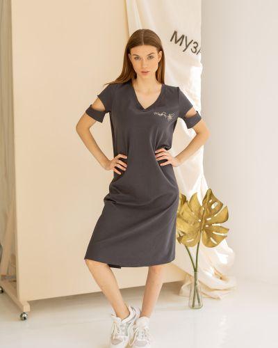 Повседневное домашнее с рукавами платье Lovitton