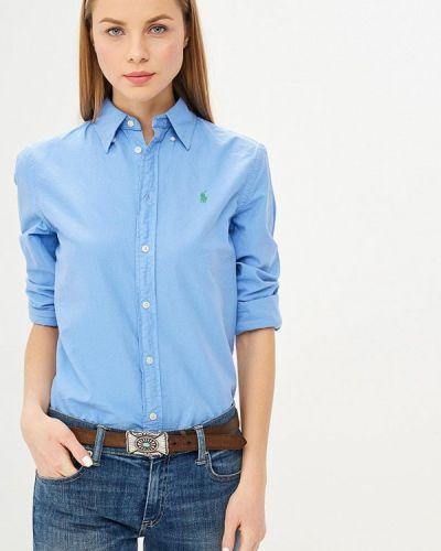 Голубая рубашка с длинным рукавом Polo Ralph Lauren