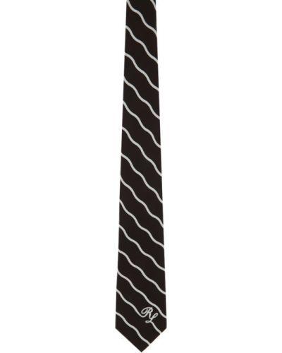 Brązowy krawat z jedwabiu Ralph Lauren Purple Label