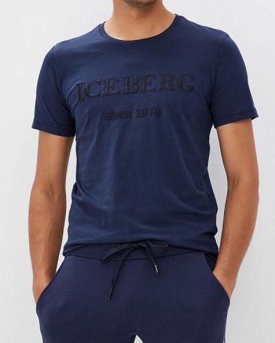 Синяя футболка Iceberg