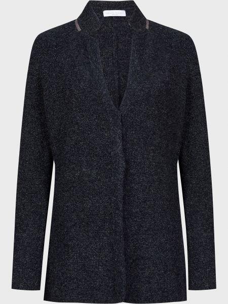 Шерстяной синий пиджак на кнопках Fabiana Filippi