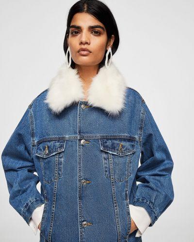 Джинсовая куртка утепленная прямая Mango