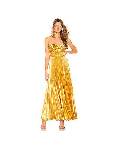 Вечернее платье на молнии золотой Amur
