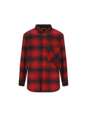 Koszula w kratę - czerwona Saint Laurent