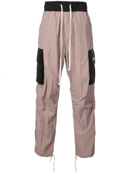 Розовые брюки карго с карманами для беременных на шнурках Daniel Patrick