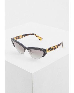 Солнцезащитные очки кошачий глаз черные Miu Miu