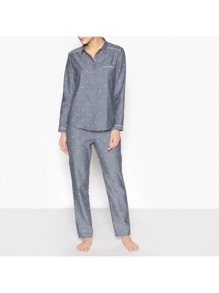 Пижама с рубашкой с карманами La Redoute Collections