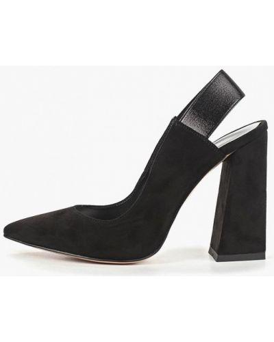 Туфли на каблуке с открытой пяткой велюровые Calipso