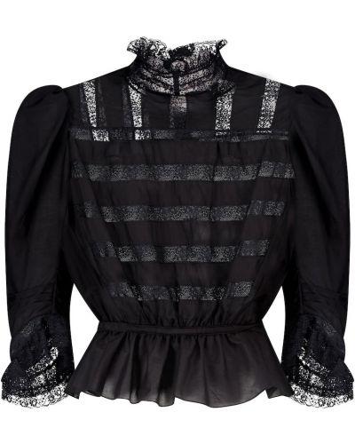 Шелковая черная блузка винтажная Marc Jacobs