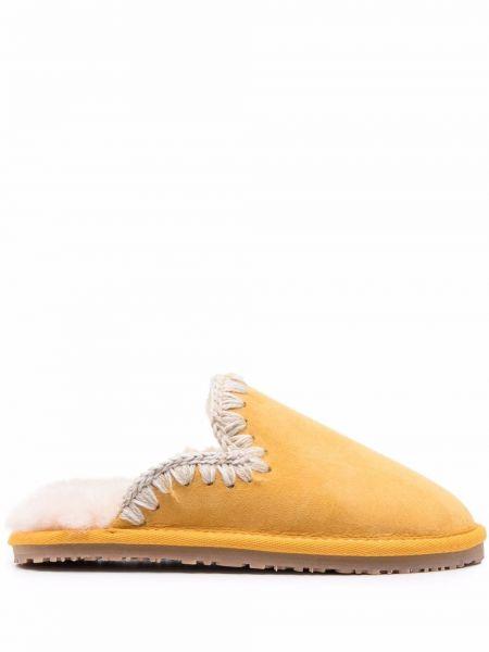 Kapcie - żółte Mou