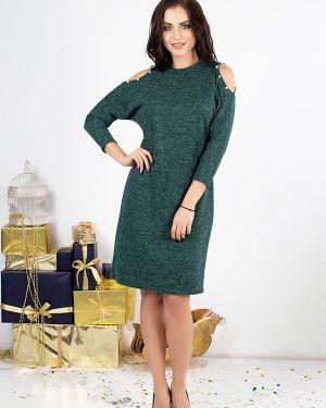 Трикотажное платье - зеленое Taiga