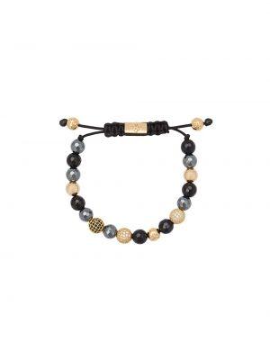 Черный золотой браслет Nialaya Jewelry