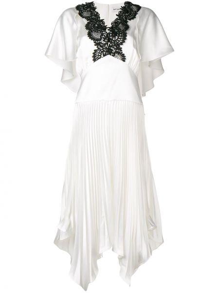 Платье мини миди с V-образным вырезом Self-portrait