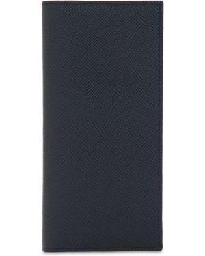 Niebieski portfel skórzany Pineider