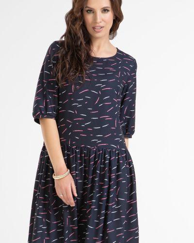 Приталенное повседневное с рукавами платье прима линия