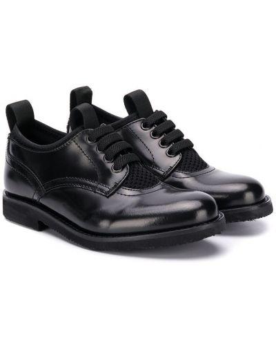 Buty brogsy skórzany czarny Gallucci Kids