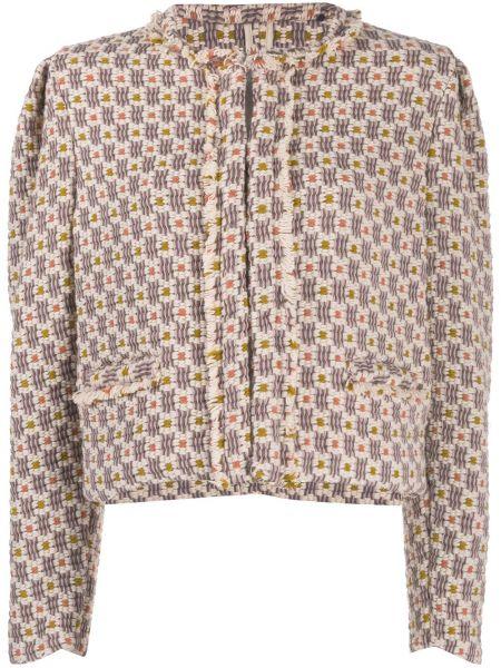 Удлиненный пиджак твидовый с вырезом круглый Isabel Marant