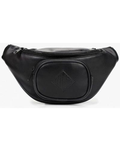 Поясная сумка из искусственной кожи черная Lacoste