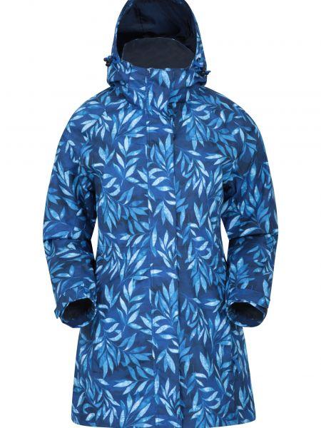 Niebieska kurtka z kapturem materiałowa Mountain Warehouse