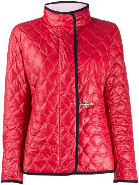 Стеганая куртка красная Fay
