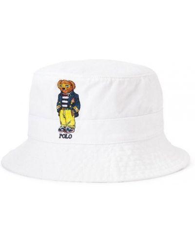 Biały kapelusz bawełniany boho Ralph Lauren