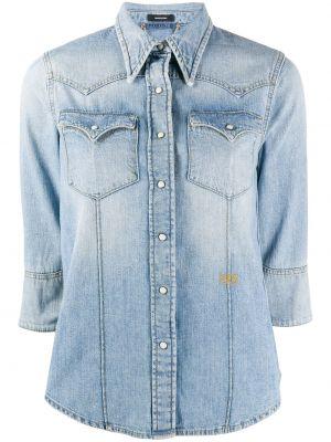Хлопковая синяя классическая рубашка с воротником на пуговицах Ports 1961