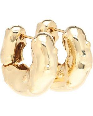 Серьги-гвоздики серьги-кольца золотые Rejina Pyo