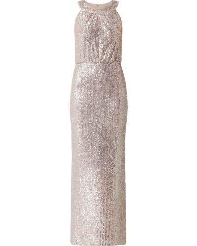 Sukienka wieczorowa z cekinami - różowa Swing