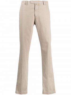 Beżowe spodnie z paskiem Borrelli