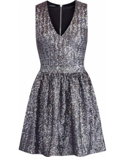 Платье мини коктейльное с V-образным вырезом Balmain
