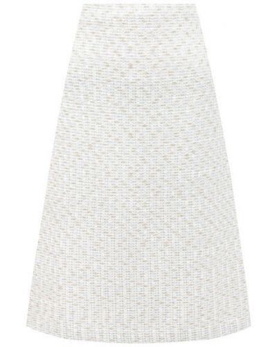Белая юбка из вискозы St. John