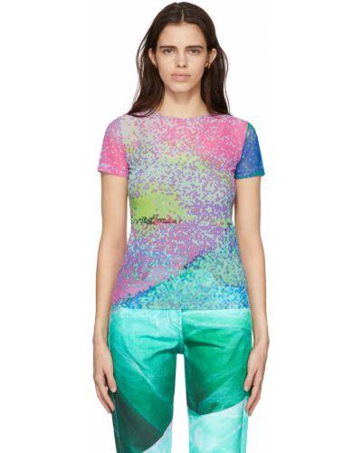 T-shirt z siateczką - zielona Serapis