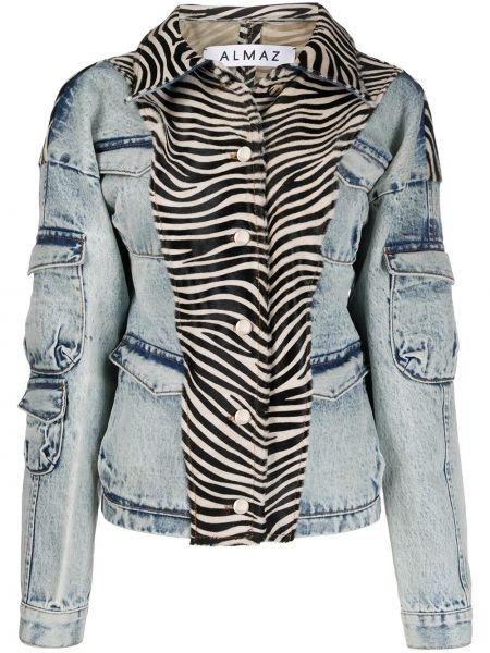 Черная джинсовая куртка с манжетами Almaz