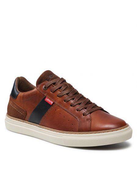 Buty sportowe skorzane - brązowe Levi's