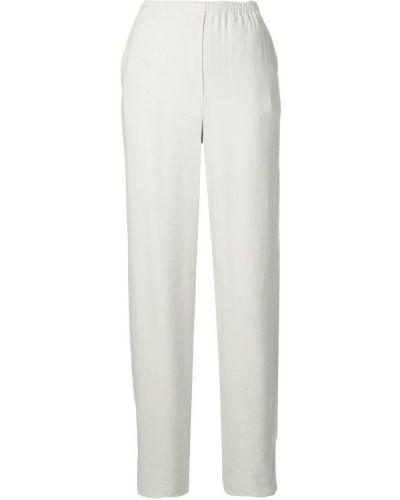 Свободные брюки серые с карманами Emporio Armani