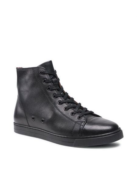 Czarne sneakersy Gino Rossi