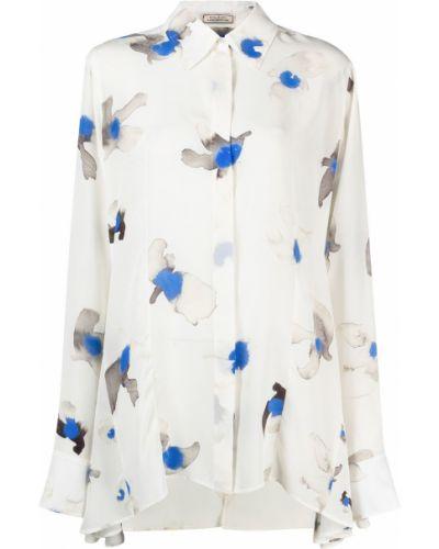 Белая рубашка с длинными рукавами с воротником Nina Ricci