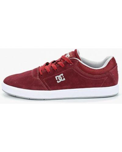 Низкие кеды красные замшевые Dc Shoes