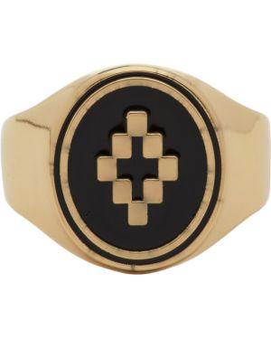 Кольцо из золота черный Marcelo Burlon County Of Milan