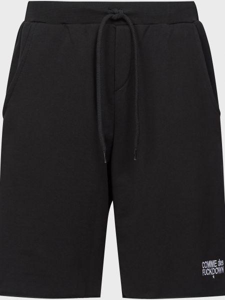 Хлопковые черные шорты Comme Des Fuckdown
