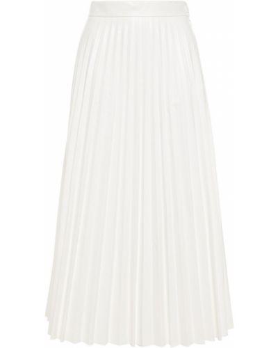 Текстильная белая плиссированная юбка миди Mm6 Maison Margiela